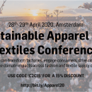 28-29 April 2020: Innovation Forum Sustainable Apparel & Textiles Conference